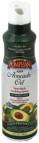 Pompeian Non-Stick, 100% Avocado Oil Cooking Spray - 5 oz