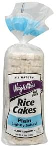 Weight Wise Rice Cakes Plain, Lightly Salted