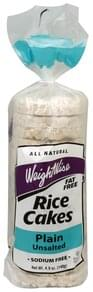 Weight Wise Rice Cakes Plain, Unsalted
