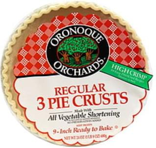 Oronoque Orchard Regular Pie Crusts Ready to Bake, 9-Inch