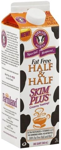 Farmland Fat Free, Skim Plus Half & Half - 1 QT