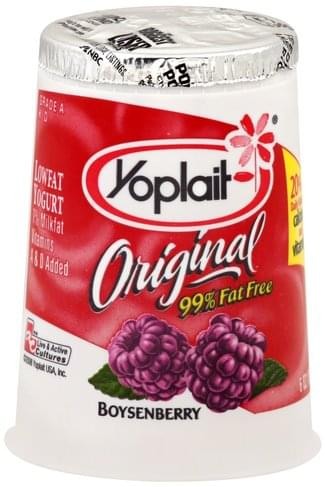 Yoplait Lowfat, Boysenberry Yogurt - 6