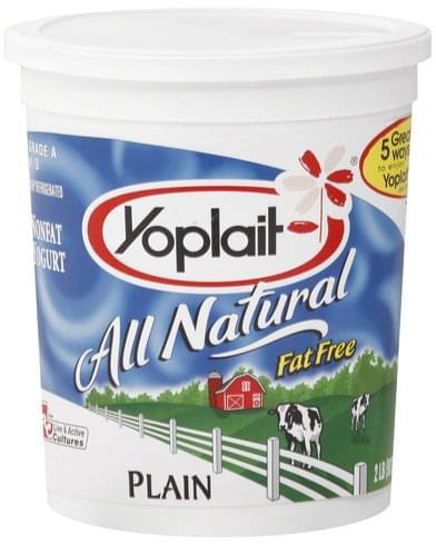 Yoplait Nonfat, Plain Yogurt - 2 lb