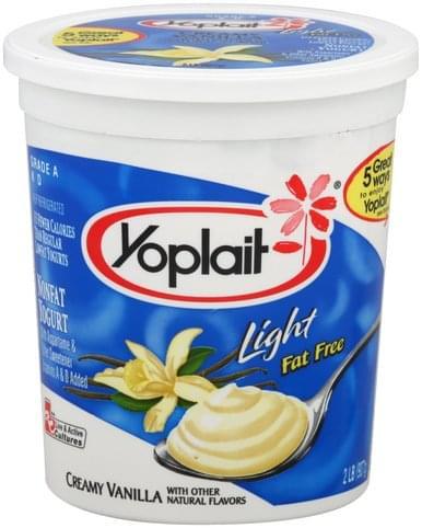 Yoplait Nonfat, Creamy Vanilla Yogurt