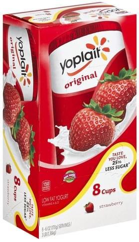 Yoplait Low Fat, Strawberry Yogurt - 8
