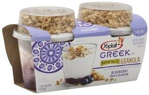 Yoplait Yogurt Fat Free, with Granola, Blueberry