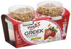 Yoplait Yogurt with Nature Valley Granola, Fat Free, Fruit on the Bottom, Strawberry