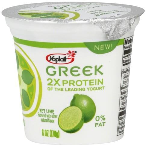 Yoplait Fat Free, Key Lime Yogurt - 6