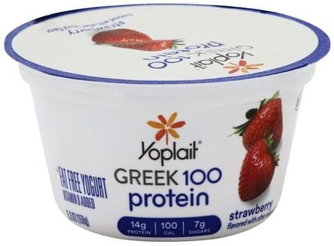 Yoplait Fat Free, Strawberry Yogurt - 5
