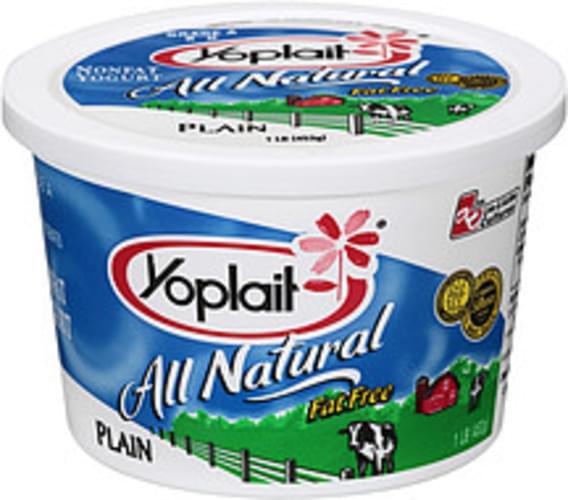 Yoplait All Natural Plain Nonfat Yogurt - 1 lb