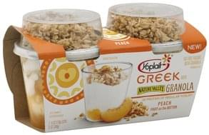 Yoplait Yogurt Fat Free, with Granola, Peach