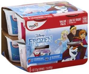 Yoplait Yogurt Low Fat, Strawberry/Blueberry, Value Pack