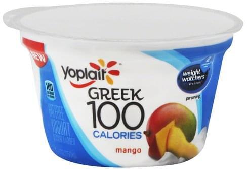 Yoplait Greek, Fat Free, Mango Yogurt
