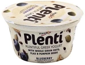 Yoplait Yogurt Plentiful Greek, Low Fat, Blueberry