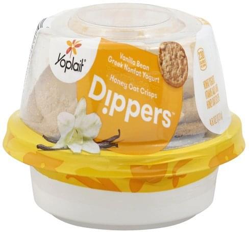 Yoplait Greek, Nonfat, Vanilla Bean + Honey Oat Crisps Yogurt - 4.6 oz