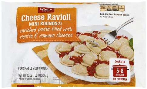 Winco Foods Mini Rounds Cheese Ravioli - 20 oz