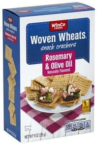 Winco Foods Snack Crackers Rosemary & Olive Oil