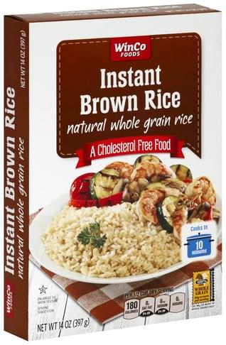 Winco Foods Instant Brown Rice - 14 oz