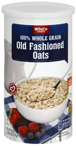 Winco Foods Oats Old Fashioned, 100% Whole Grain