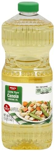 Winco Canola Cooking Oil - 48 oz