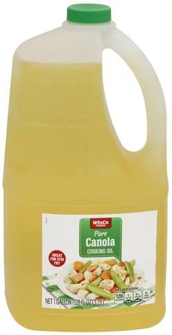 Winco Pure, Canola Cooking Oil - 1 gl