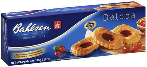 Bahlsen Deloba Biscuits - 3 5 oz, Nutrition Information | Innit