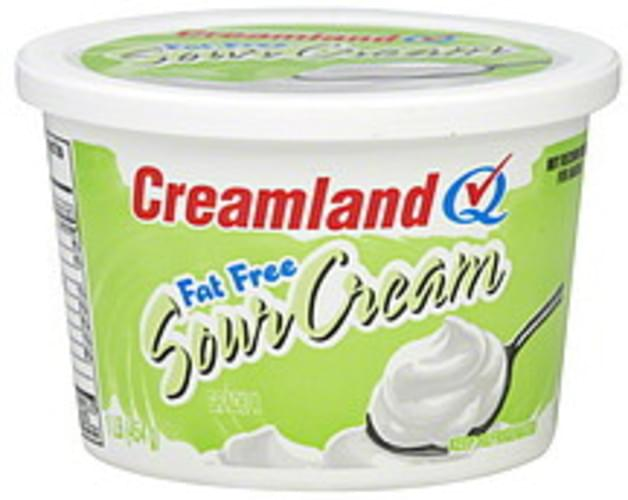 Creamland Fat Free Sour Cream - 1 lb