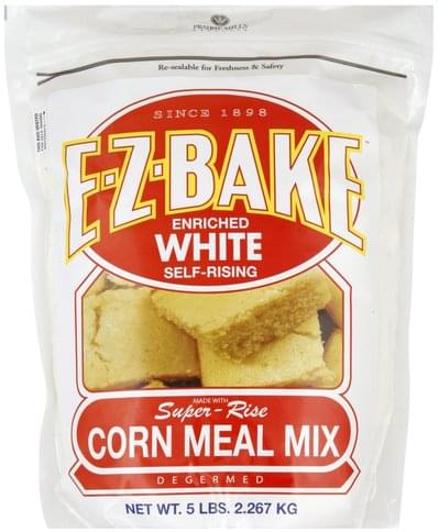 Prairie Mills Enriched White, Self-Rising, Degermed Corn Meal Mix - 5 lb