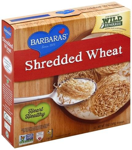 Barbaras Shredded Wheat Cereal - 18 ea