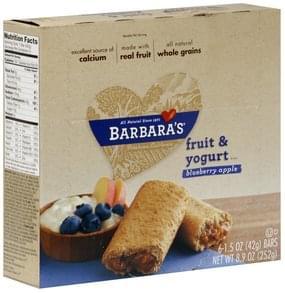 Barbaras Fruit & Yogurt Bars Blueberry Apple