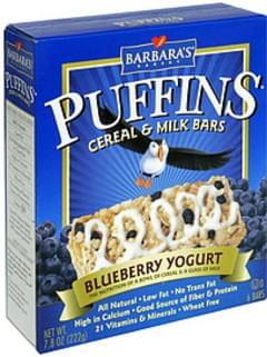 Barbaras Cereal & Milk Bars Blueberry Yogurt