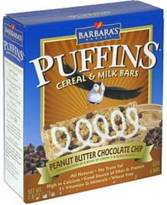 Barbaras Cereal & Milk Bars Peanut Butter Chocolate Chip