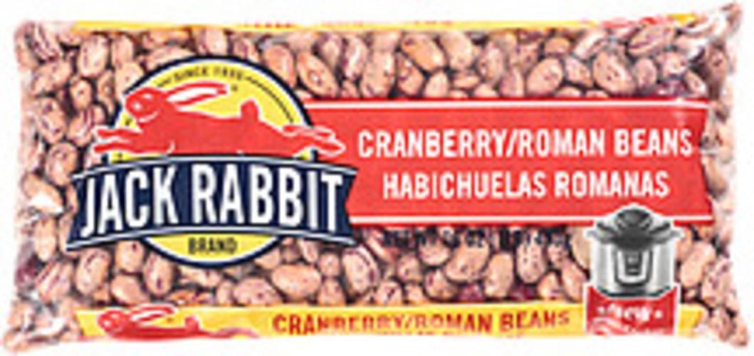 Jack Rabbit Cranberry Roman Beans - 16 oz