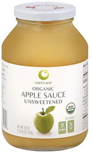 Green Way Organic, Unsweetened Apple Sauce - 25 oz