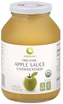 Green Way Apple Sauce Organic, Unsweetened