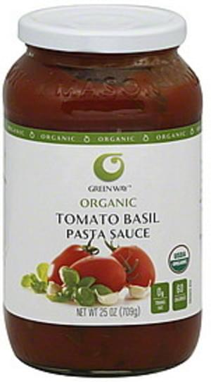 Green Way Tomato Basil Pasta Sauce - 25 oz