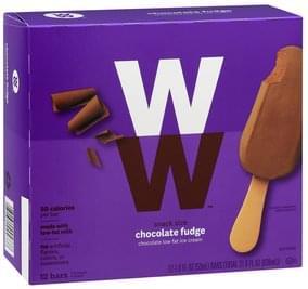 Weight Watchers Ice Cream Bars Low Fat, Chocolate Fudge, Snack Size