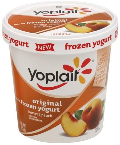 Low Fat, Harvest Peach Frozen Yogurt