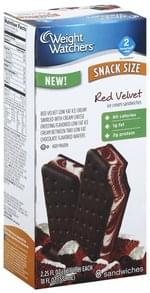 Weight Watchers Ice Cream Sandwiches Red Velvet, Snack Size
