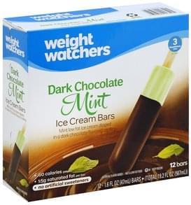 Weight Watchers Ice Cream Bars Dark Chocolate Mint