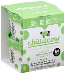 Chillycow Ice Cream Light, Mint Dark Chocolate Chip
