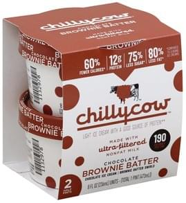 Chillycow Ice Cream Light, Chocolate Brownie Batter