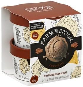 Farm to Spoon Frozen Dessert Plant Based, Chocolate