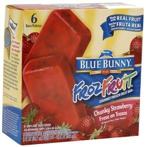 Blue Bunny Gourmet Frozen Fruit Bar Chunky Strawberry