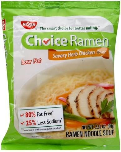 Nissin Savory Herb Chicken Flavor Ramen Noodle Soup - 2 82 oz