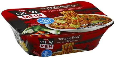 Nissin Teriyaki Beef Flavor Chow Mein Noodles 4 Oz Nutrition Information Innit