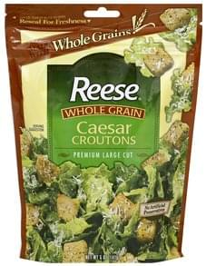 Reese Croutons Premium Large Cut, Whole Grain, Caesar