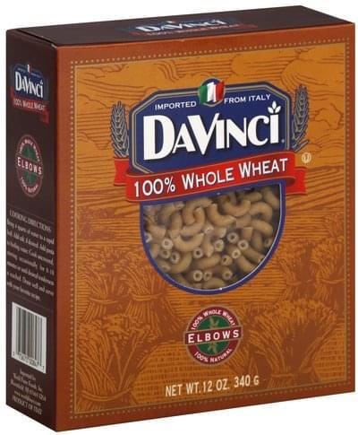 DaVi 100% Whole Wheat Elbows - 12 oz