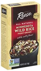 Reese Wild Rice Minnesota, Paddy Grown, Subtle Nutty