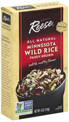 Reese Minnesota, Paddy Grown, Subtle Nutty Wild Rice - 4 oz